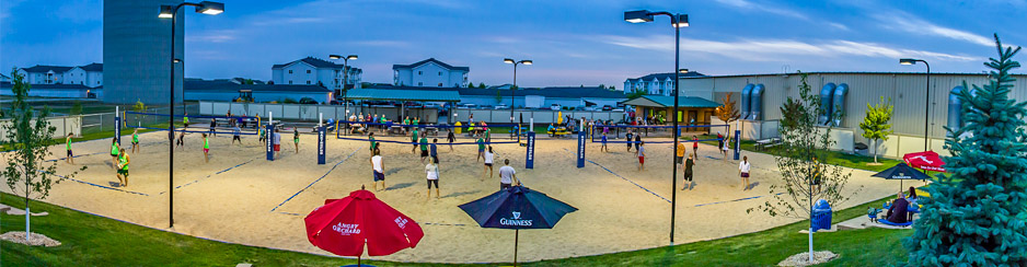 Gastropub Volleyball Courts in Fargo ND